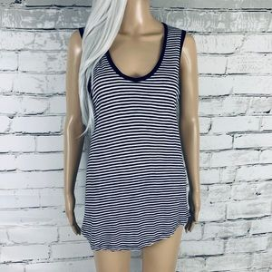 Madewell Scoop Neck Striped Tank Top